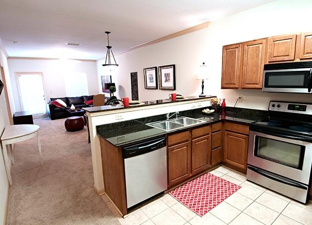 cottage landing student housing kitchen